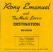 Le verso de la pochette : (Rony Emanuel and The Music Lovers - Reviens)