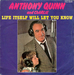 Une pochette en bleu : (Anthony Quinn and Charlie - Life itself will let you know)