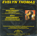 Le verso de la pochette : (Evelyn Thomas - High energy)