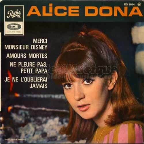 Alice Dona - Merci Monsieur Disney
