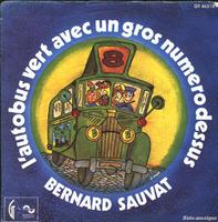 Bernard Sauvat L'Autobus Vert Avec Un Gros Numero Dessus